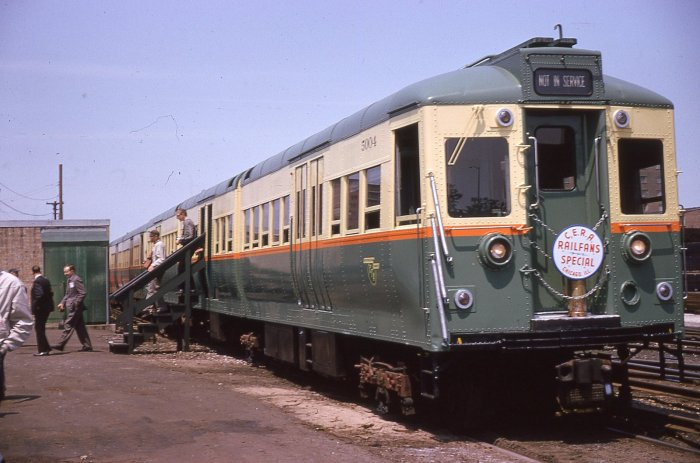 CRT/CTA 5004, shown here in 63rd St. Lower Yard, on a 1963 CERA fantrip (author's collection)