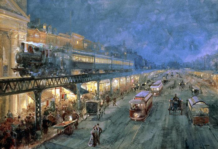 The Bowery At Night, by William Sonntag (1895)