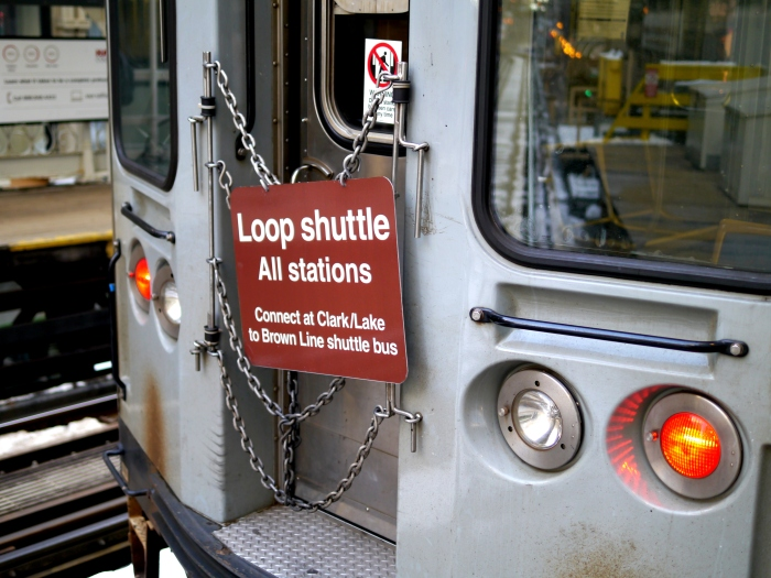 CTA Brown Line Loop shuttle, March 8, 2013