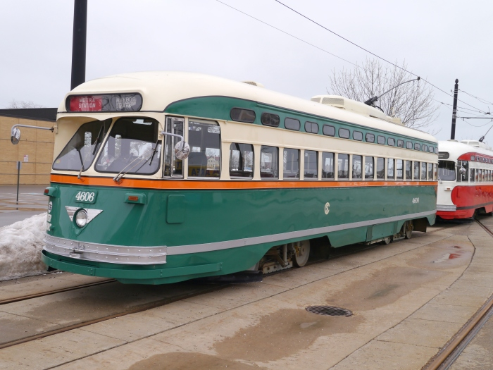 4606, the ersatz Chicago car (Chicago's PCCs were all longer than standard dimensions).