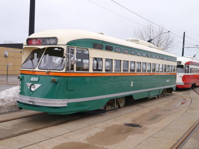 4606, the ersatz Chicago car (Chicago's PCCs were all longer than standard dimensions).