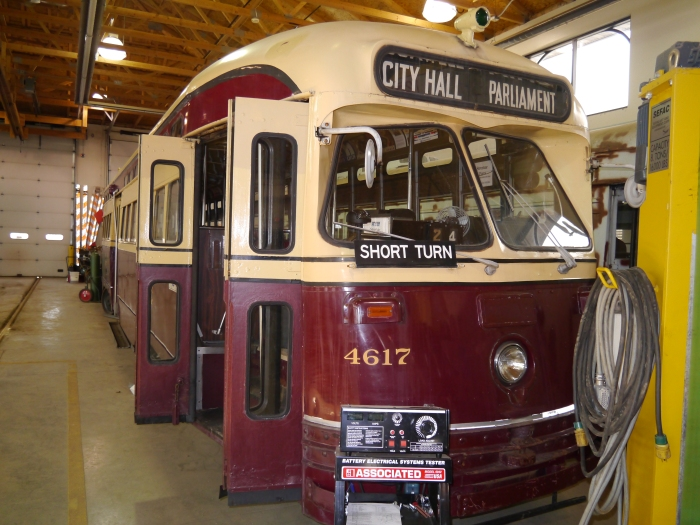 Most of Kenosha's cars are ex-Toronto, but only 4610 and 4617 are in TTC colors.