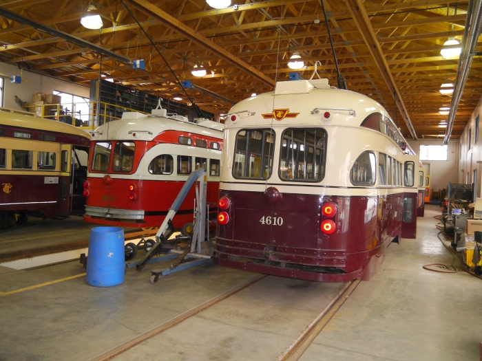 4610 in the carbarn.