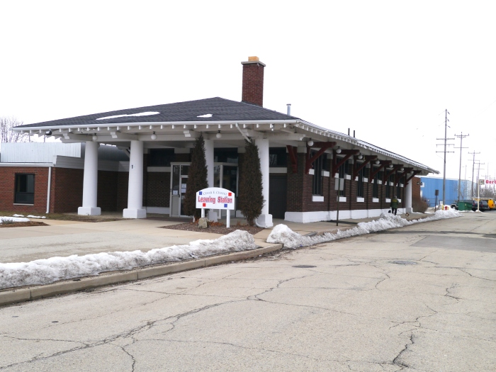 The former North Shore Line Station in Kenosha is now the Cesar E. Chavez Learning Station.