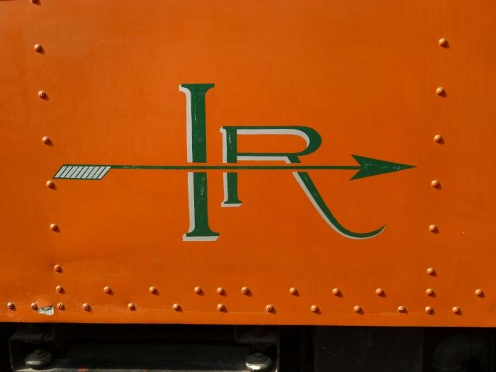 The stylish Indiana Railroad logo. (Photo by David Sadowski)