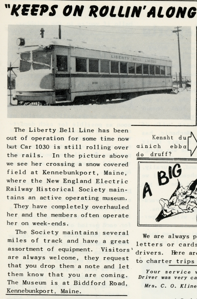 From a 1953 issue of Transit Topics, the LVT employee publication. (Author's collection)