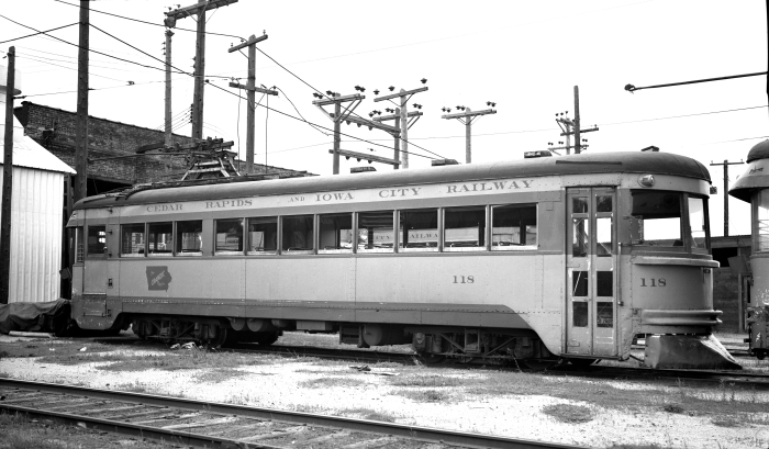 "1930 Cincinnati & Lake Erie ""Red Devil"" #118, shown here in CRANDIC service in Iowa. In 1954, this car was sold to the Seashore Trolley Museum, where it is preserved today. (Author's collection)"