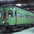 """CA&E wood car 36 on January 1, 1963, shortly after being acquired by Gerald E. Brookins for the Columbia Park & Southwestern, aka """"Trolleyville USA ."""" This car is now at the Illinois Railway Museum. (Photo by Richard S. Short, Author's collection)"""