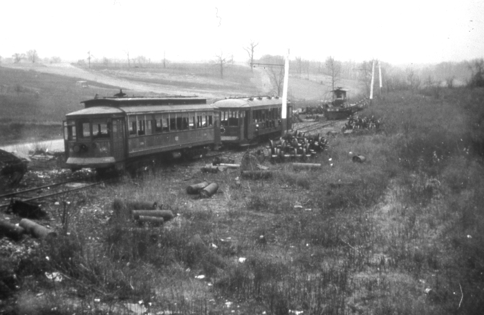 The Lehigh Valley Transit scrap track circa 1938. (Author's collection)