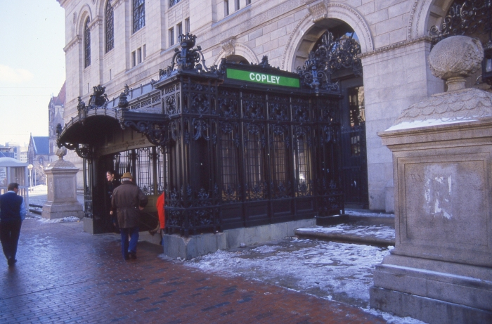 The very ornate Copley subway station entrance. (Photo by David Sadowski)