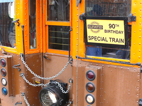 Special sign celebrating the 90th birthday outing of 4271-4273. (Photo by David Harrison)