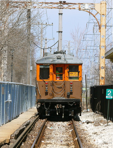 4271-4272 at Dempster/Skokie, April 14, 2013. (Photo by David Harrison)