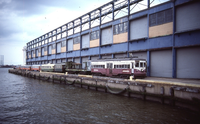 Even some of the museums have not survived. The Penn's Landing Trolley (shown here in 1985) operated in Philadelphia from 1982 to 1995. (Photo by David Sadowski)