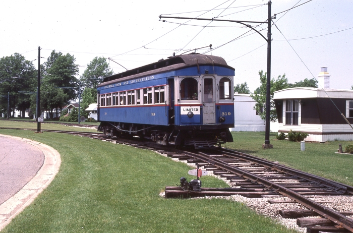 "CA&E 319 in Ohio on the Columbia Park and Southwestern aka ""Trolleyville USA"" in 1984. This car is now at the Illinois Railway Museum. (Photo by David Sadowski)"