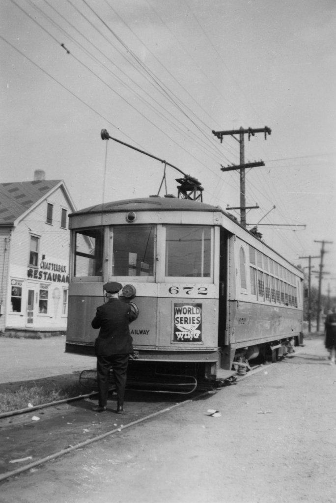 The last streetcar run in Dayton, Ohio on September 28, 1947. However, Dayton still runs trolleybuses, and they are celebrating 80 years of service this April 23rd. (Author's collection)