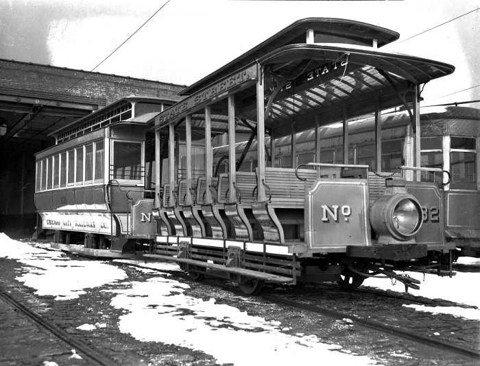 Chicago Surface Lines built two cable car replicas for the 1933 Century of Progress. Since 1938, car 532 has been on display at the Museum of Science and Industry. CCR 209 is at the Illinois Railway Museum. Here is how the cars looked on February 25, 1938. Chicago's cable car system will be featured at CERA's May program, where our speaker will be author Greg Borzo. (Author's collection)