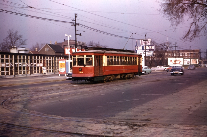 CTA Red Pullman 144 on a fantrip in December 1957. (Author's collection)