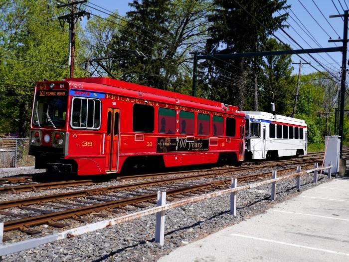 Fantrip train at Drexel Hill Junction. (Photo by David Sadowski)