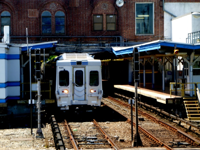 SEPTA's 69th Street Terminal serves the Market-Frankford rapid transit line and the Norristown High-Speed Line, as well as various buses and the Media and Sharon Hill trolleys. (Photo by David Sadowski)