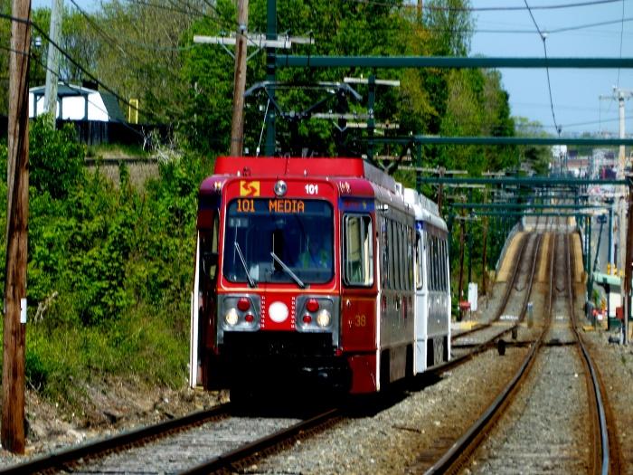 The fantrip train along private right-of-way. (Photo by David Sadowski)