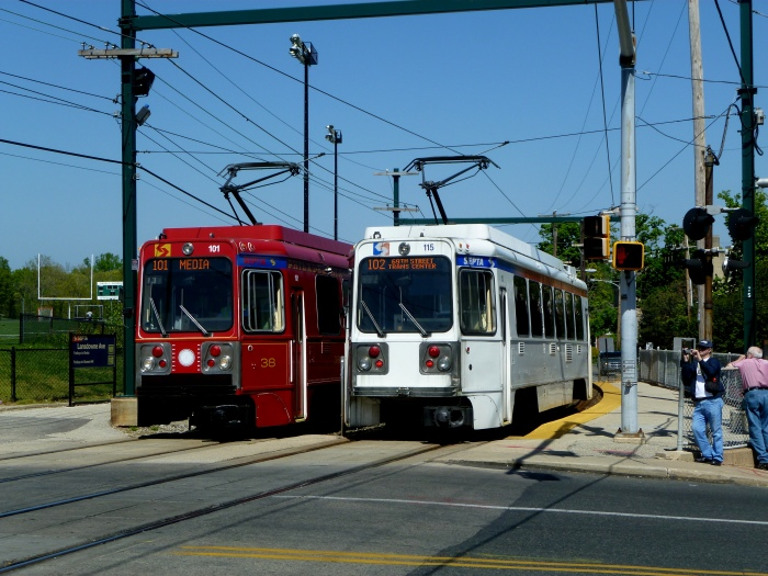 115 and 101 meet at Landsdowne Avenue. (Photo by David Sadowski)