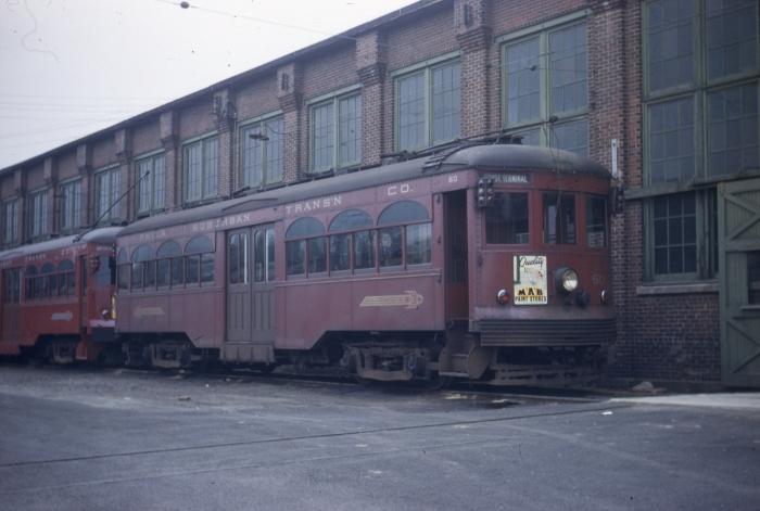 PST 60 at Llanerch car barn on May 15, 1949.