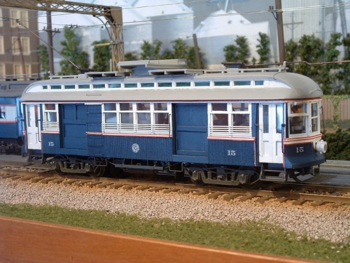 "Edward Halstead writes, ""Here's a photo of my 1/4"" scale model of CWT 15. The crooked front pole is included."""