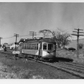 Atlantic City and Shore car 115 at Pleasantville in 1946. (David H. Cope photo)