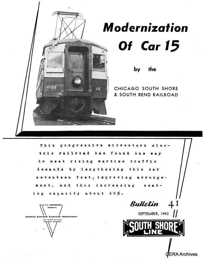 CERA Bulletin 41, issued in 1942, covered the modernization of CSS&SB 15.