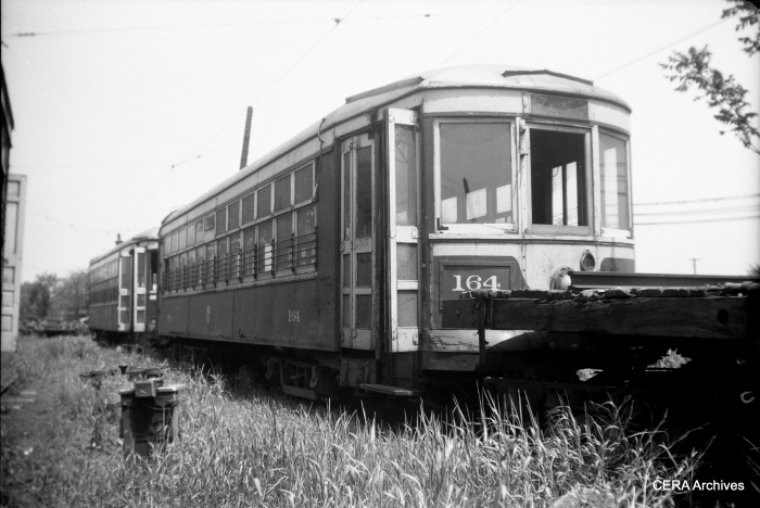 C&WT 164, built by Cummings Car & Coach in 1927, was scrapped in 1947. (Photo by Norman Rolfe)