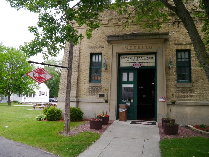 The East Troy Electric Railroad depot and substation in East Troy is on the National Register of Historic Places. (Photo by David Sadowski)