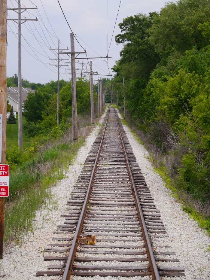 View of the single track line looking east from East Troy. (Photo by David Sadowski)