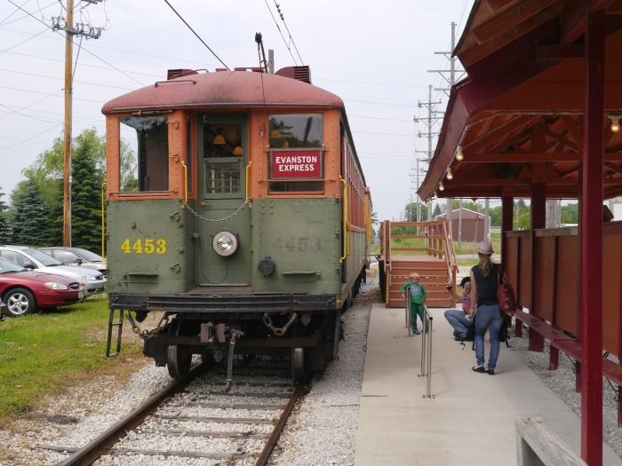4453 at the Mukwonago depot. (Photo by David Sadowski)