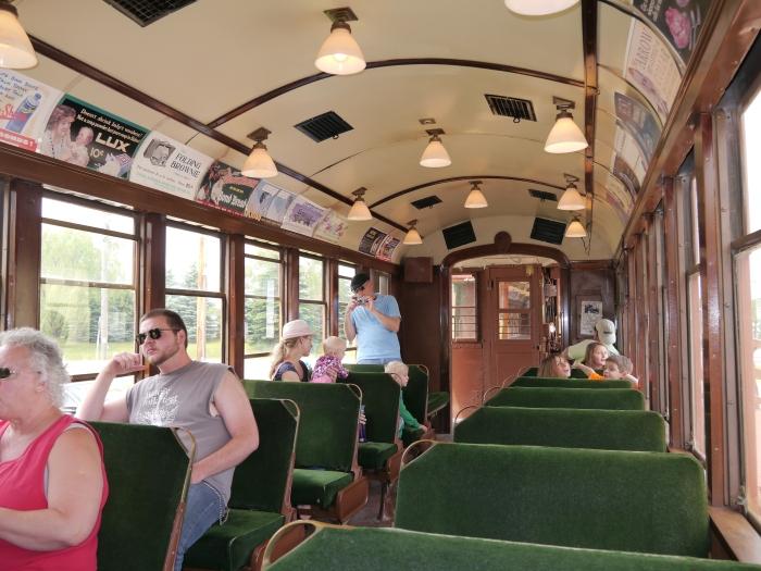 Interior of CRT/CTA rapid transit car 4453. (Photo by David Sadowski)