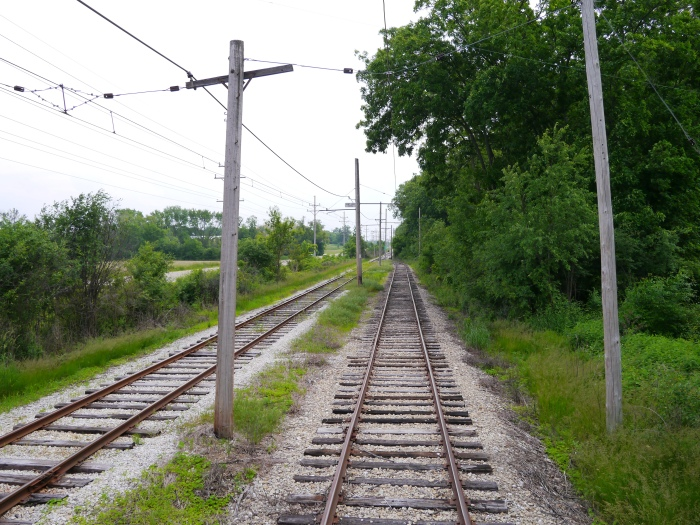 The passing siding in the middle of the line between East Troy and Mukwonago. (Photo by David Sadowski)
