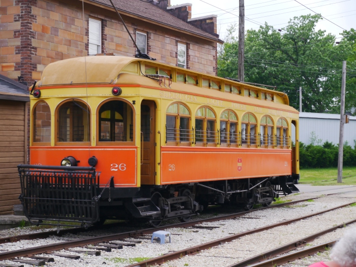 Sheboygan Light Power & Railway wooden interurban car 28 was built in 1908 and ran until 1938, when it was sold to a private family for use as a summer cottage. It remained this way for the next 50 years. Restoration began in 1998 and was completed in 2005. (Photo by David Sadowski)