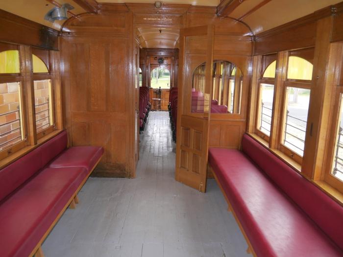 Interior of restored Sheboygan car 26. (Photo by David Sadowski)