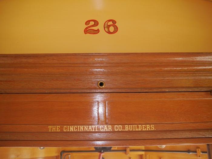 Like the 4000s, the Sheboygan car was built by the Cincinnati Car Co. (Photo by David Sadowski)