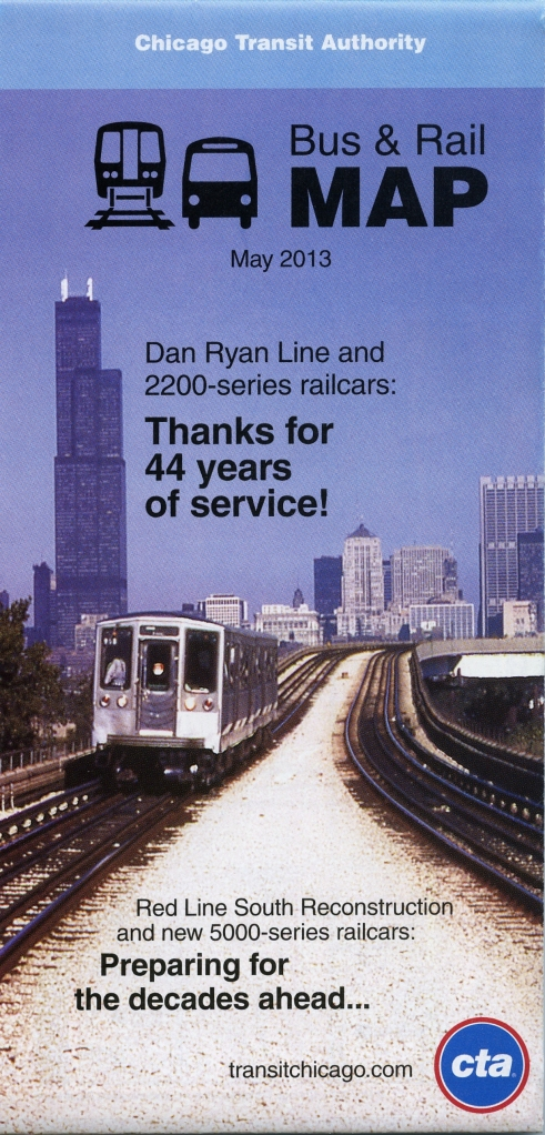 The new CTA map pays tribute to the 2200s on the cover.