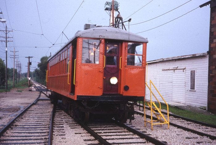 "One of East Troy's 4000s in ""traction orange,"" as it looked in August, 1987. (Photo by David Sadowski)"