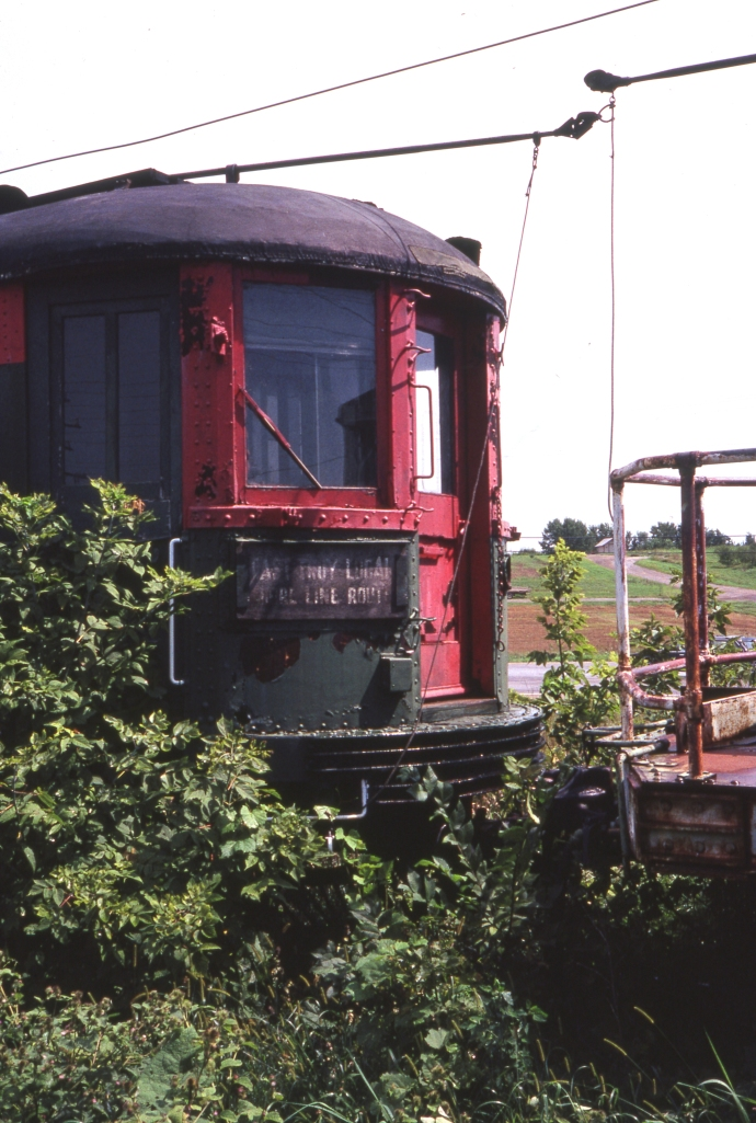 A North Shore Line car at East Troy, as it appeared in August, 1987. (Photo by David Sadowski)