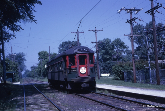 CNS&M 744 on a CERA fantrip on June 17, 1962.
