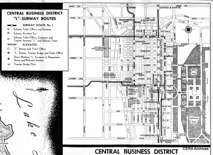 Downtown CTA rapid transit lines, as of 1948.
