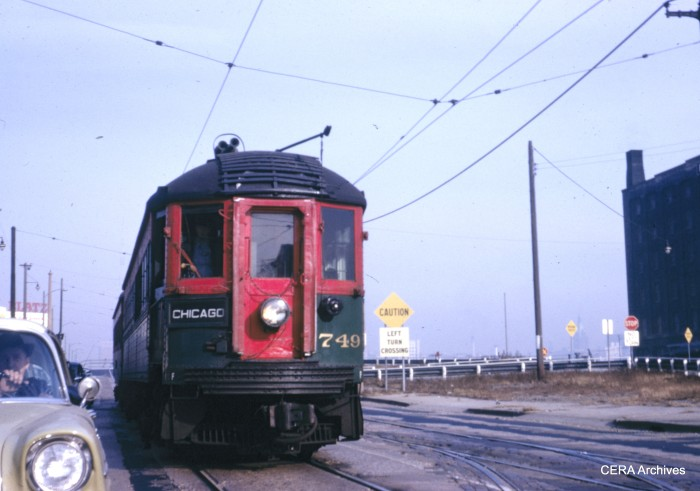 749 in Milwaukee in late 1962, just a few months before all North Shore Line service was abandoned. IRM acquired this car in 1963.