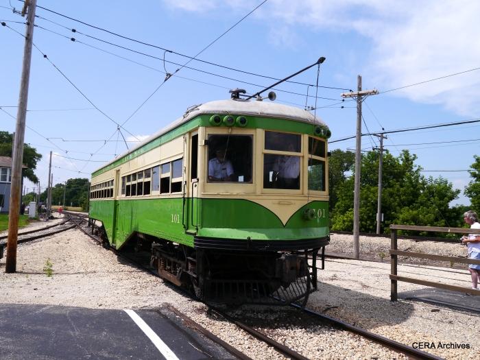 IT 101 at the Illinois Railway Museum on July 6, 2013. (David Sadowski Photo - CERA Archives)