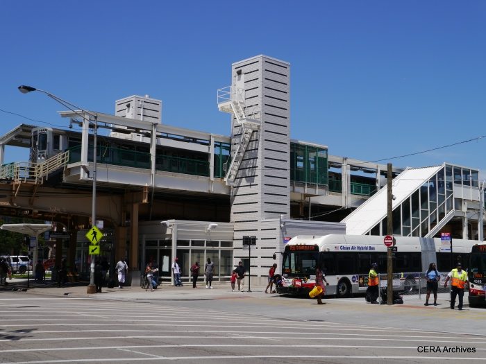Transfers to shuttle buses at Garfield are fast and convenient.