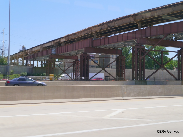 The CTA's Englewood branch crosses the Dan Ryan and continues west to Ashland. The line originally ended at Loomis, but was extended about two blocks west to a more logical termination point in 1969, the same year service began on the Dan Ryan median line.