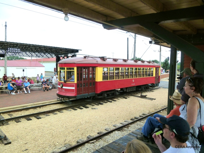 Chicago Surface Lines streetcar 3142 at the IRM Trolley Pageant in 2012. (Photo by David Sadowski)