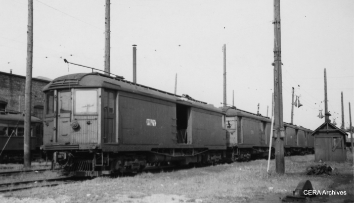 North Shore Line merchandise dispatch cars in August 1949.