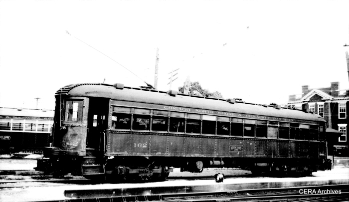 "North Shore car 162 as it looked on November 27, 1941. According to Don's Rail Photos, ""It was acquired by American Museum of Electricity in 1963 and resold to Connecticut Trolley Museum."""